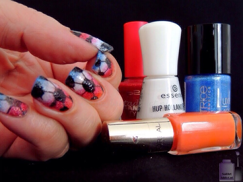 World Cup inspired let the ball roll nail art by Viv