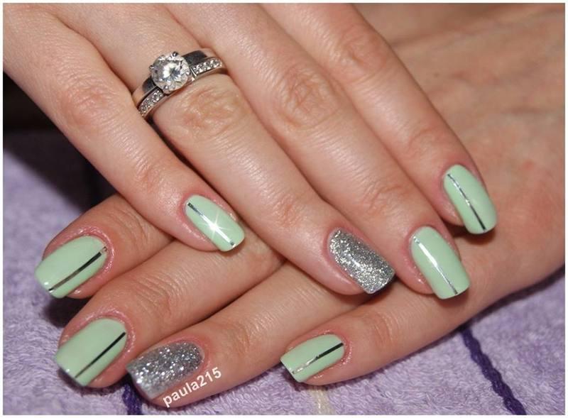 Striping Tape Nail Art. nail art by Paula215. NAILS