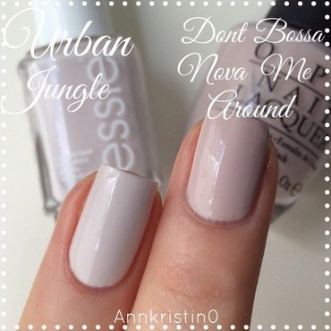 OPI Don't Bossanova Me Around and Essie urban jungle Swatch by Ann-Kristin