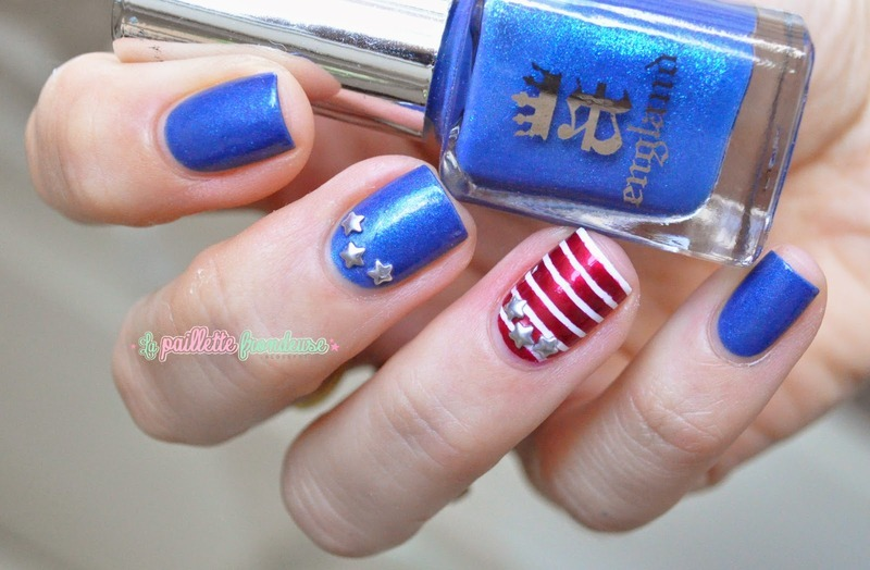 Independance day nail art by nathalie lapaillettefrondeuse