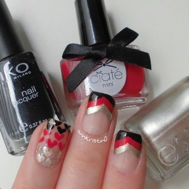Germany World Cup  nail art by Ann-Kristin