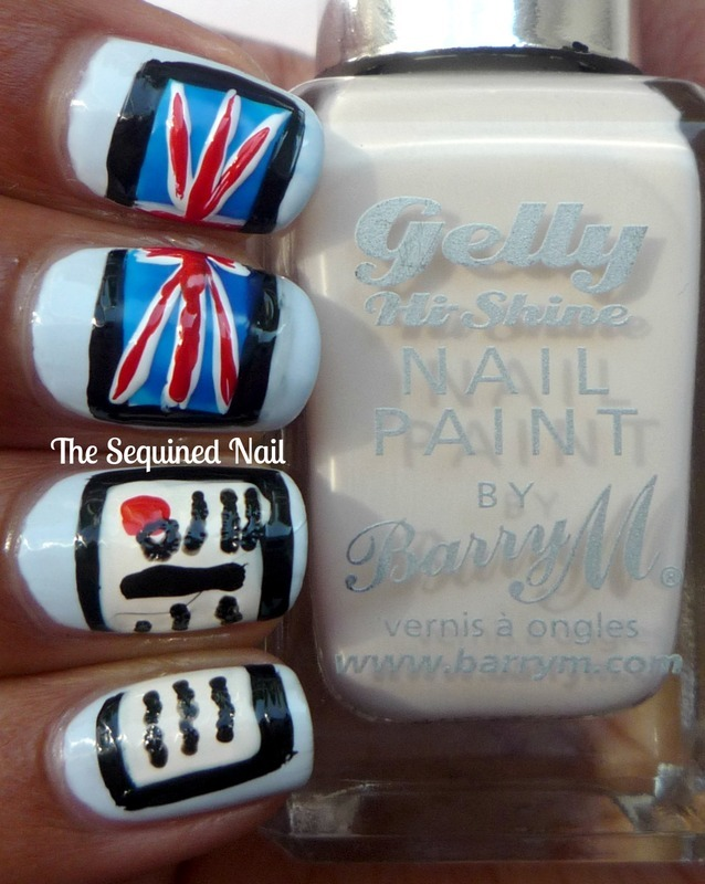 Lacquer Legion - On Holiday nail art by TheSequinedNail