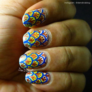 Scallop Nails nail art by Madhu DenDiva