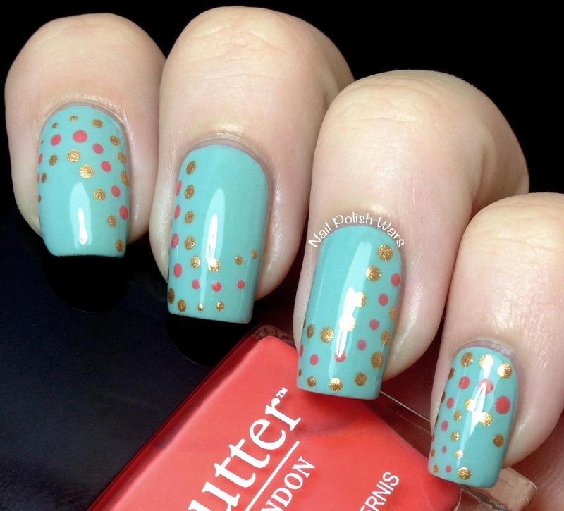Dotted Waves nail art by Nail Polish Wars