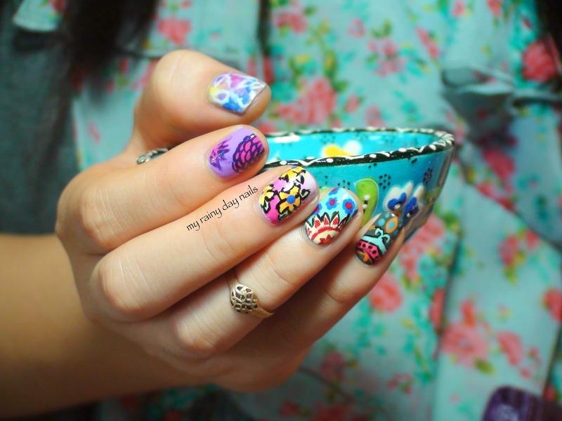 India Inspired Nail Art nail art by Nova Qi (My Rainy Day Nails ...