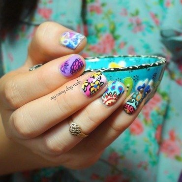 India Inspired Nail Art nail art by Nova Qi (My Rainy Day Nails)