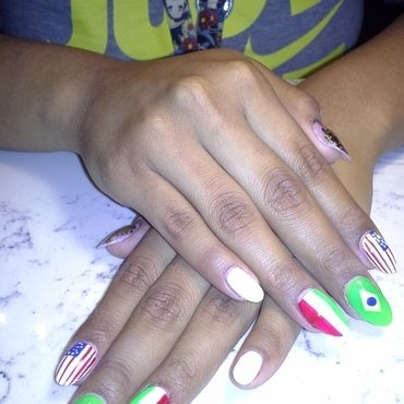 World Cup Nails nail art by Safia Pulliam