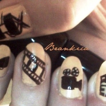 Movie nail art by Brankica