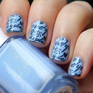 Letters nail art by Moriesnailart