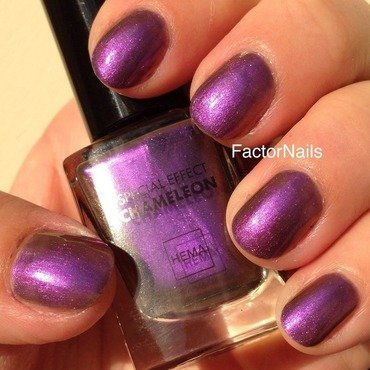 Hema Chameleon Purple Swatch by Factornails