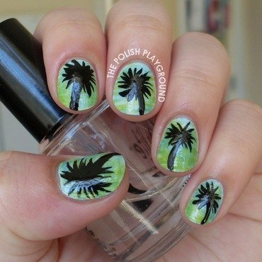 Tropical Paradise nail art by Lisa N