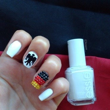 Germany fan nailart nail art by tesaw