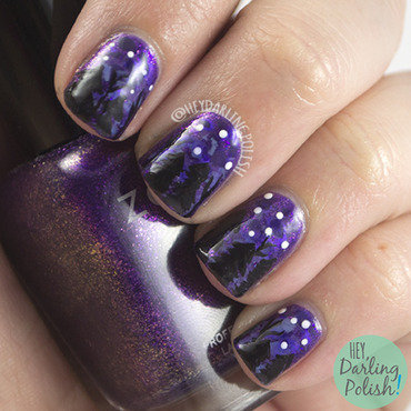 Lacquer legion on holiday purple tree nail art 4 thumb370f