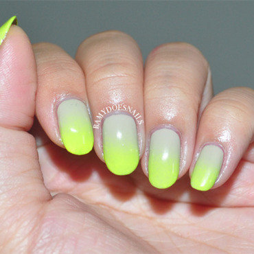 Neons and Nudes nail art by Ramy Ang