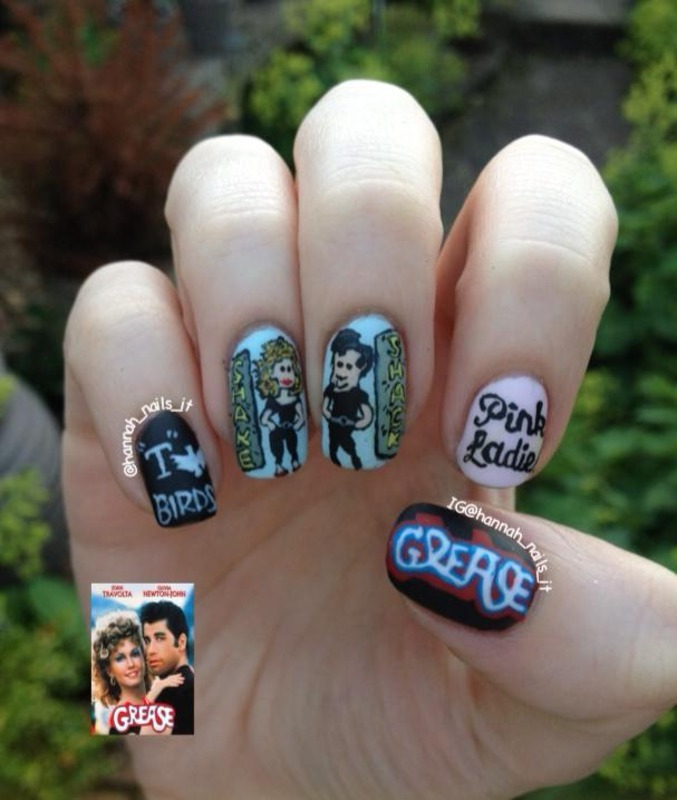 Grease is the word nail art by hannah nailpolis museum of nail art grease is the word nail art by hannah prinsesfo Images