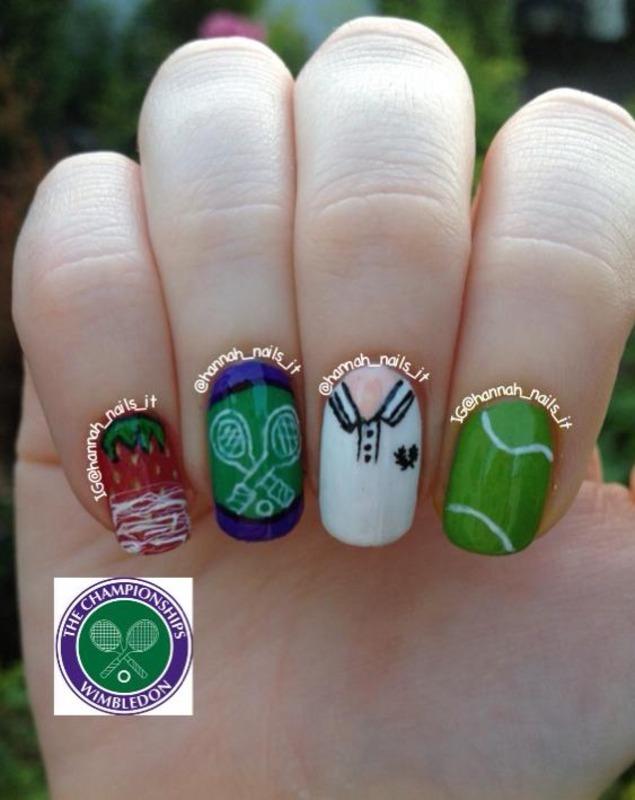 Game, Set and Match! nail art by Hannah