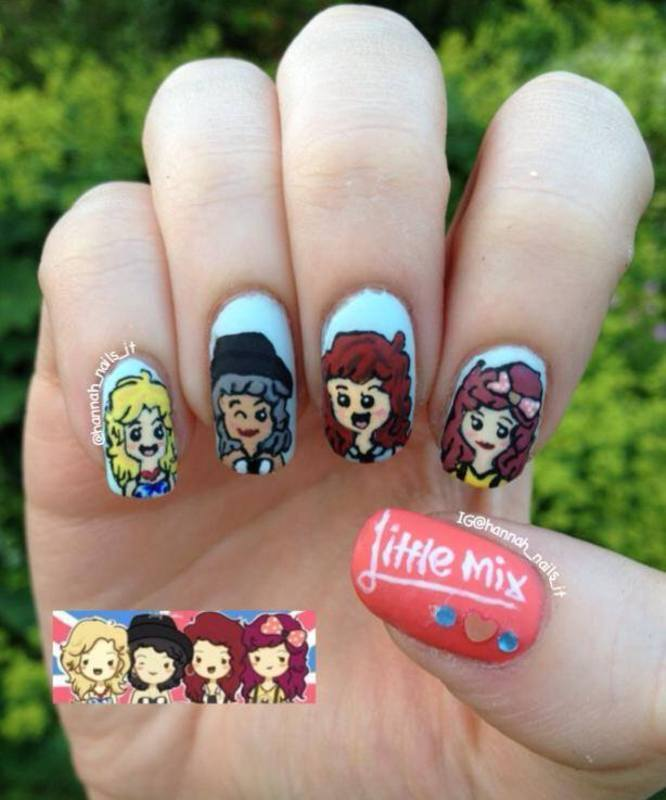 For all the 'Mixers' nail art by Hannah