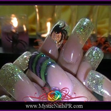 Halloween ♥ by Jennifer Perez nail art by Jennifer Perez ♥ Mystic Nails