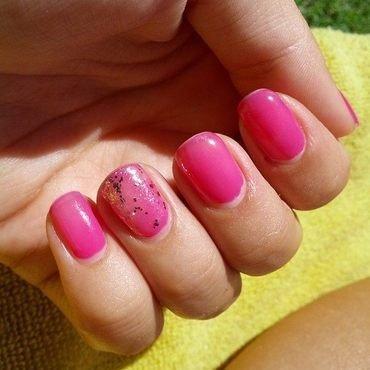 Pink Glitter Nails nail art by TheBeautycake
