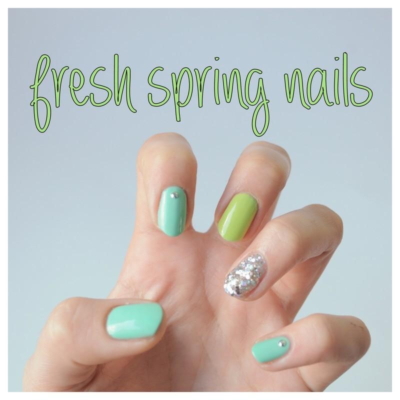 fresh spring nails nail art by Tiffany Blue