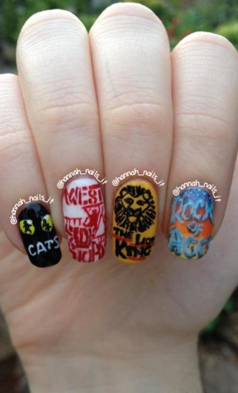 Broadway Baby nail art by Hannah