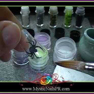 3D Spider ♥ by Jennifer Perez nail art by Jennifer Perez ♥ Mystic Nails