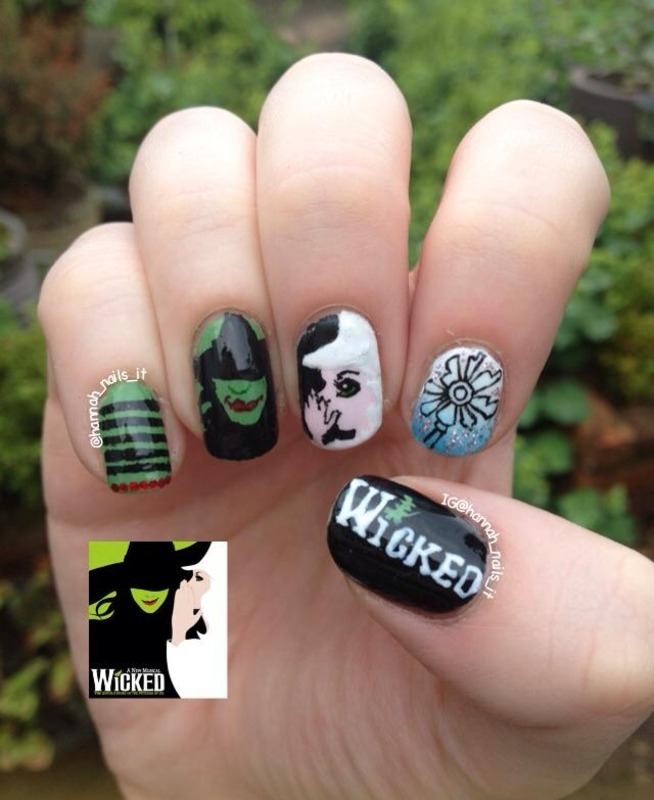 Something 'Wicked' This Way Comes... nail art by Hannah