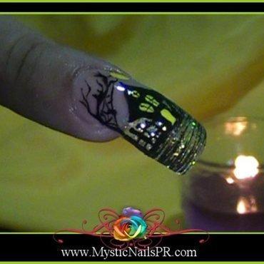 Haunted House ♥ by Jennifer Perez nail art by Jennifer Perez ♥ Mystic Nails