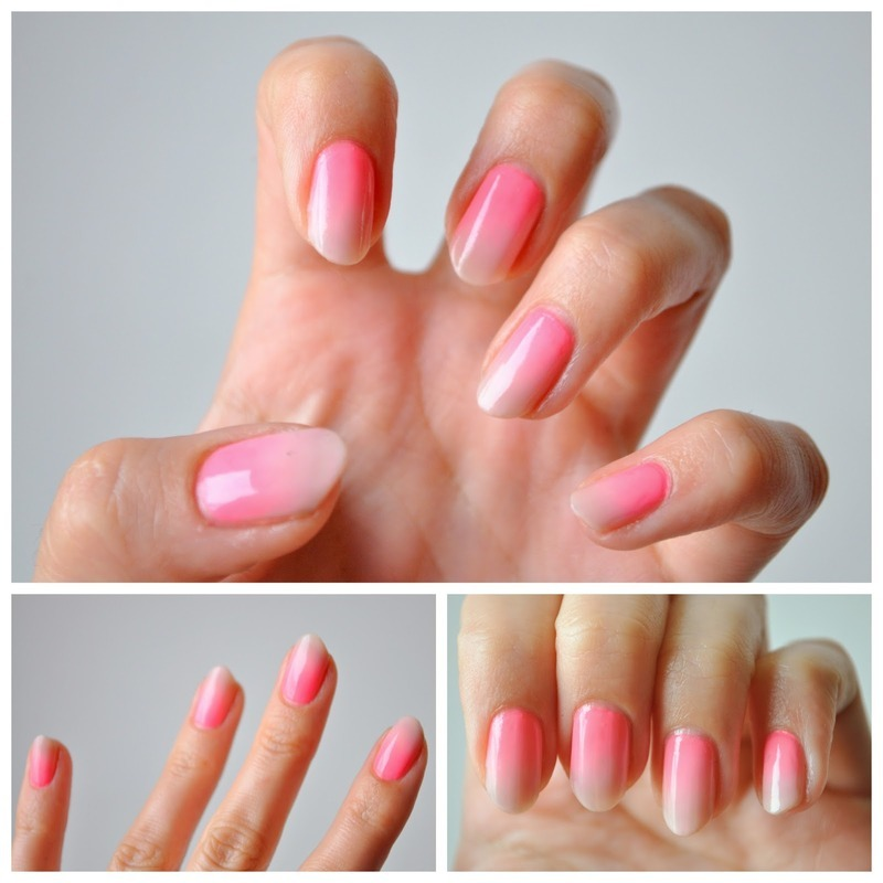 Ombre Nails Pink And Blue Pink Ombre Nail Art by Tiffany