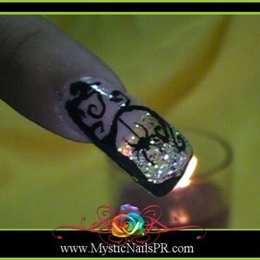 Whimisical Tree and Spider ♥ by Jennifer Perez nail art by Jennifer Perez ♥ Mystic Nails