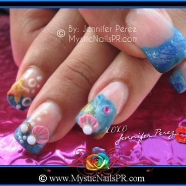Summer Nail Art ♥ by Jennifer Perez nail art by Jennifer Perez ♥ Mystic Nails