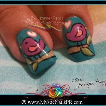 Mother's Day 2014 Badge Inspired ♥ by Jennifer Perez nail art by Jennifer Perez ♥ Mystic Nails