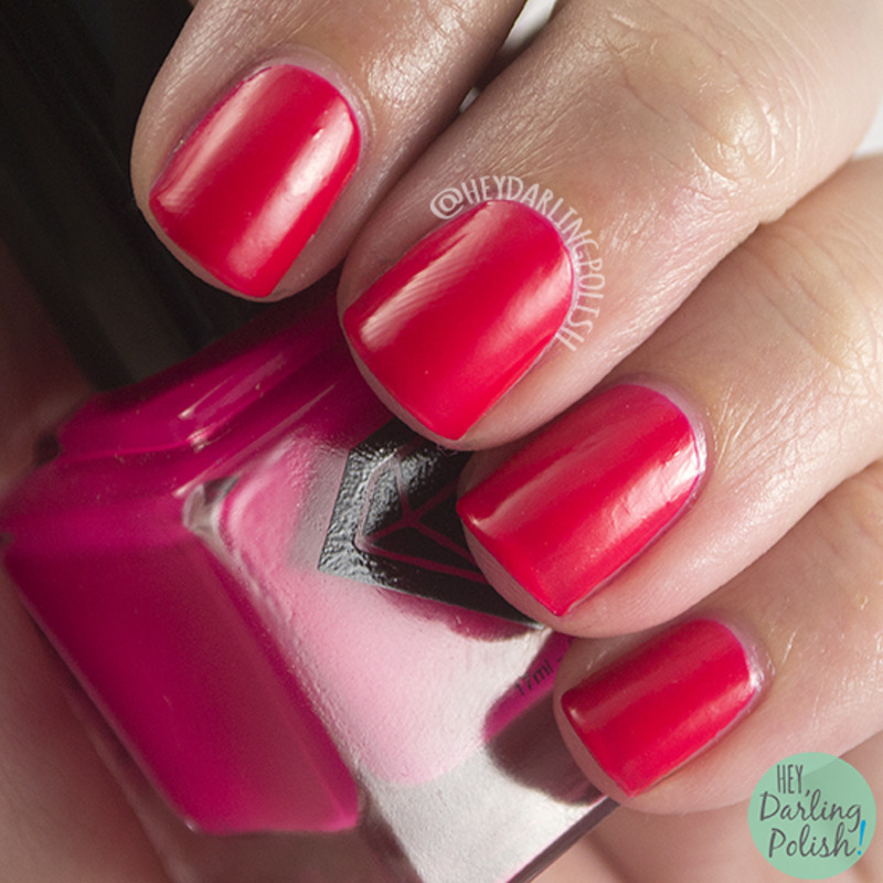 Luxe Lacquers Poppy Swatch by Marisa  Cavanaugh