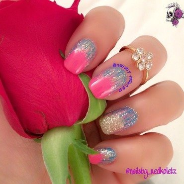 Waterfall nail art by MD Nav