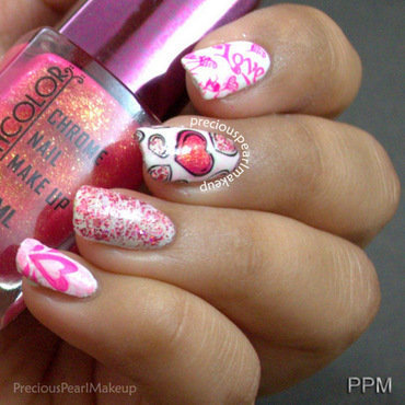 Love nails nail art by Pearl P.