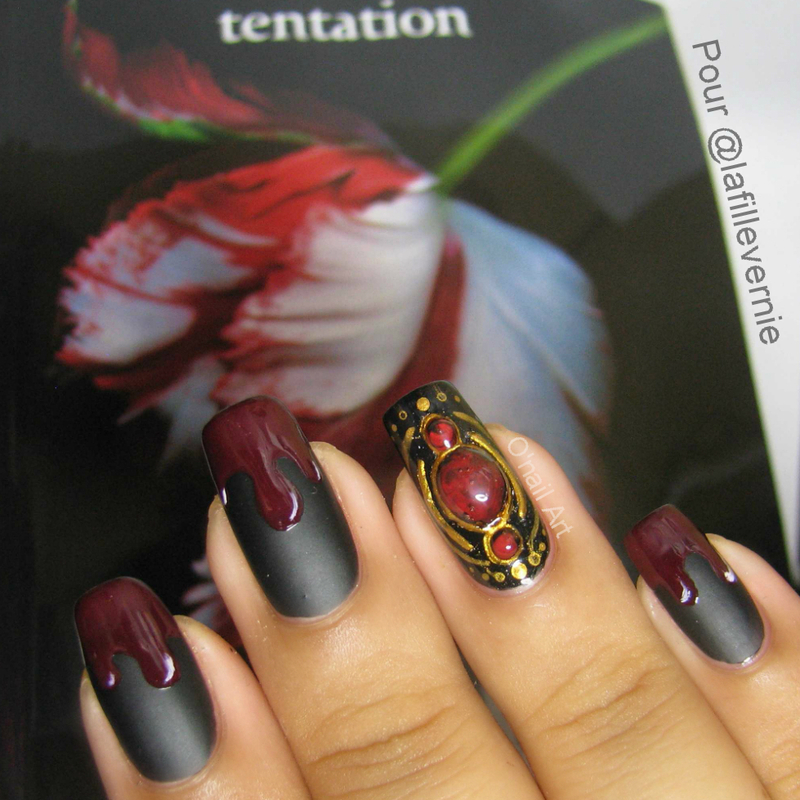 twilight's nails nail art by OnailArt