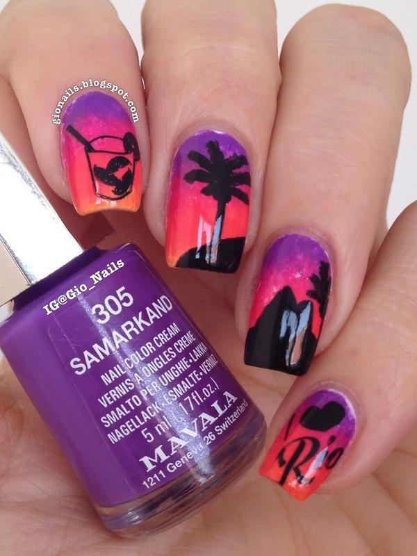 #LLOnHoliday nail art by Giovanna - GioNails