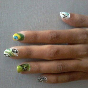 fifa world cup  nail art by reena  dsa