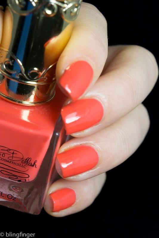 O So Dollish -  My Dahlin Gladys nail art by  Petra  - Blingfinger