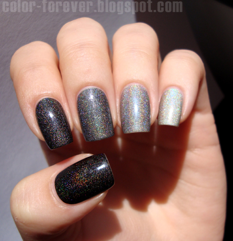 grey holo ombre nail art by ania - Grey Holo Ombre Nail Art By Ania - Nailpolis: Museum Of Nail Art