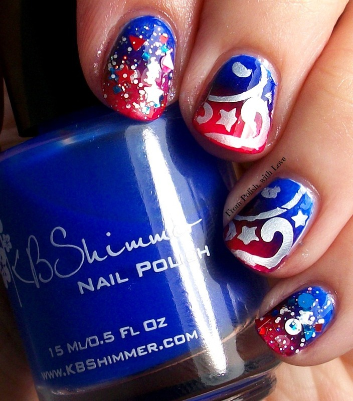 Fun on the Fourth! nail art by Dani