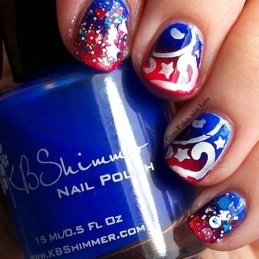 Kbshimmer lo and be bold july 4th gradient nail art thumb370f