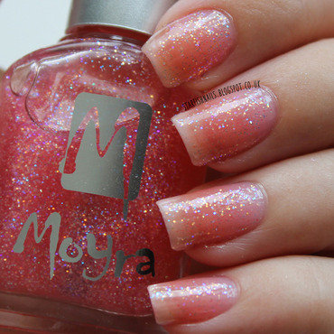 Glisten & Glow HK girl Topcoat and Moyra 57 Swatch by Lisa Yabsley