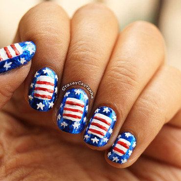 4th Of July Nails nail art by Stacey  Castanha