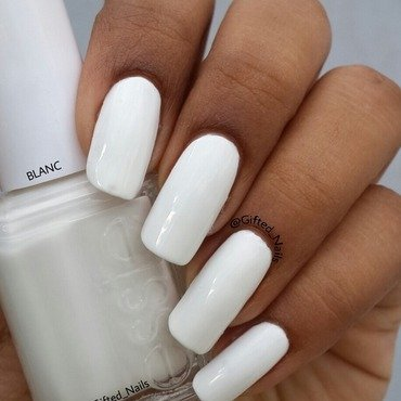 Essie Blanc Swatch by Gifted_nails