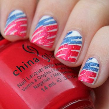 Flag Inspired nail art by Moriesnailart