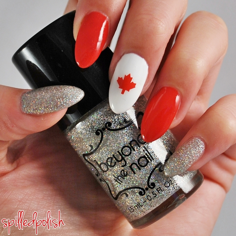 Happy Canada Day! nail art by Maddy S