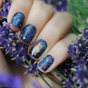 Space Kitty nail art by nihrida