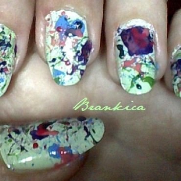Splatter! :) nail art by Brankica