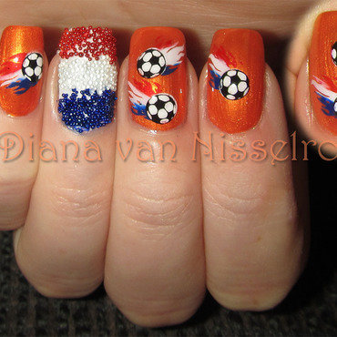 World Cup: We are on fire ;) nail art by Diana van Nisselroy